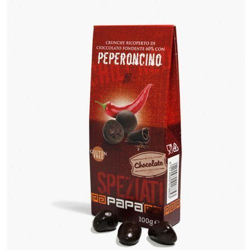 Papa Speziati crounchy w gorzkiej czekoladzie 60% z nutą papryczki 100 g