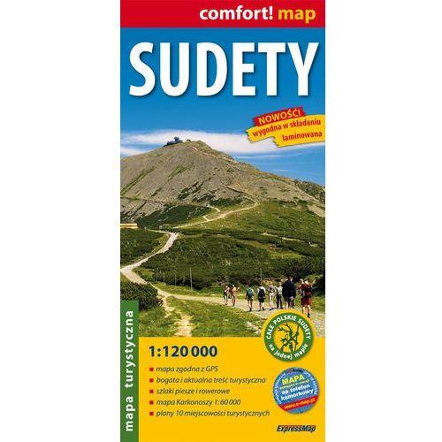 Sudety. Laminowana Mapa Turystyczna W Skali 1:120 000, oprawa miękka