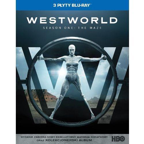 Jonathan nolan Westworld, sezon 1 (3bd) digipack (płyta bluray) (7321999347567)