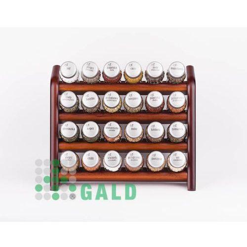 półka z przyprawami 24-el ciemne drewno mat 5904006098229 marki Gald
