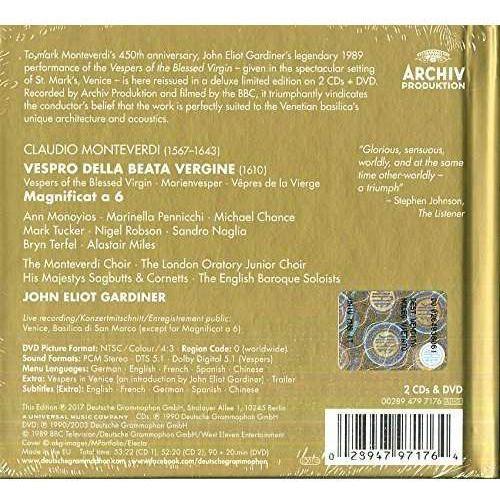 MONTEVERDI VESPERS ANNIVERSARY EDITION (2CD + DVD) - John Eliot Gardiner (Płyta CD) (0028947971764)