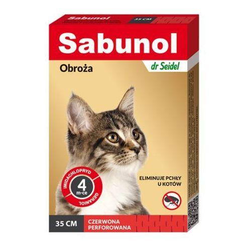 dermapharm sabunol czerwona obroża przeciw pchłom dla kotów 35 cm