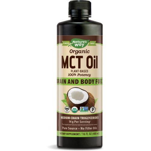100% olej mct z mleka kokosowego bio - 480ml marki Nature's way