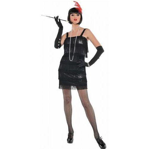 Kostium, czarna sukienka Flapper, lata 20-te, KDDA/2000