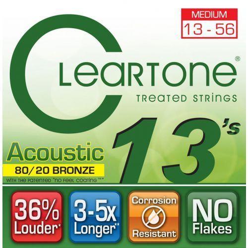 Cleartone struny do gitary akustycznej 13-56 bronze