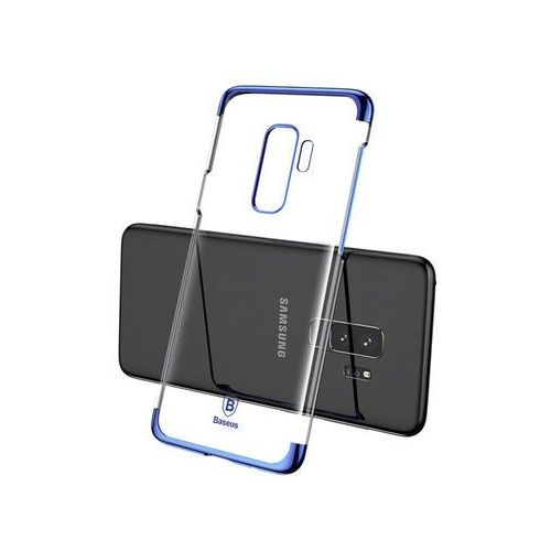 Etui glitter case samsung galaxy s9+ plus blue + szkło marki Baseus