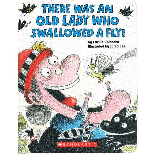 There was an Lady who swallowed a fly (Board book), oprawa twarda