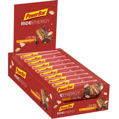 PowerBar RideEnergy Żywność dla sportowców Peanut-Caramel 18 x 55g 2019 Batony i żele energetyczne (4029679365216)