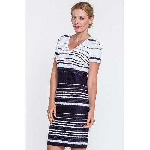 2e6f86ae7b Dzianinowa sukienka w paski - Margo Collection 270