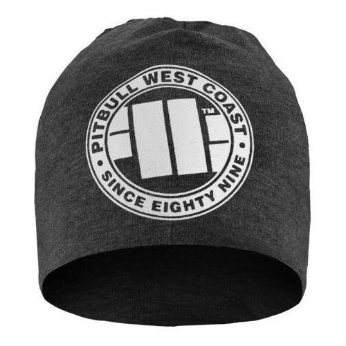 Czapka pit bull beanie big logo grafitowa - grafitowy marki Pit bull west coast