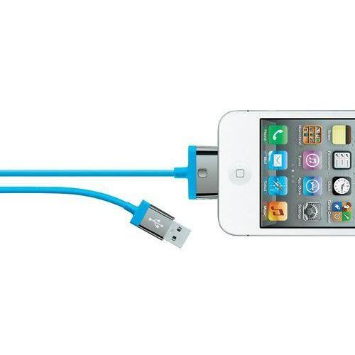 Kabel USB 2.0, Belkin F8J041cw2M-BLU, do iPoda, iPhone'a, iPada, 2 m, niebieski, kup u jednego z partnerów