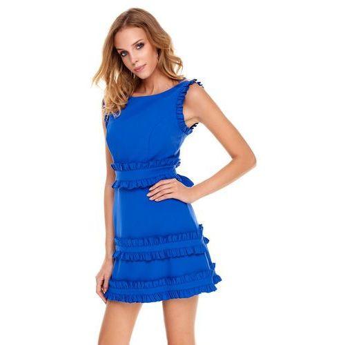 Sukienka Kalmia w kolorze szafirowym, kolor niebieski