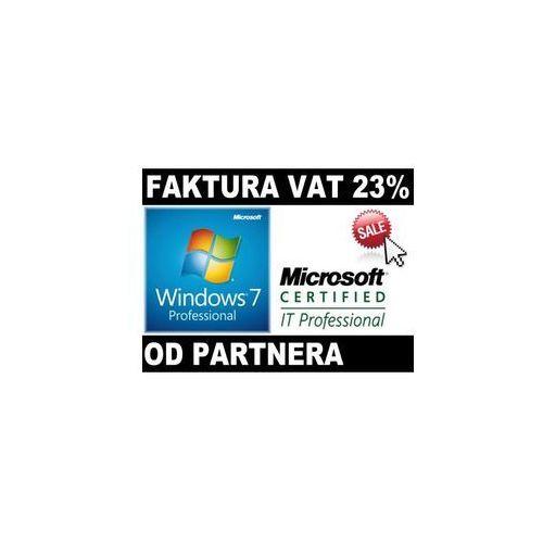Microsoft windows 7 profesional pl coa od partnera microsoft 32/64bit fv23%