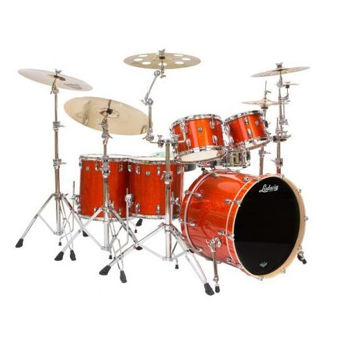 Ludwig keystonel7024ax2f orange glitter shell set zestaw perkusyjny
