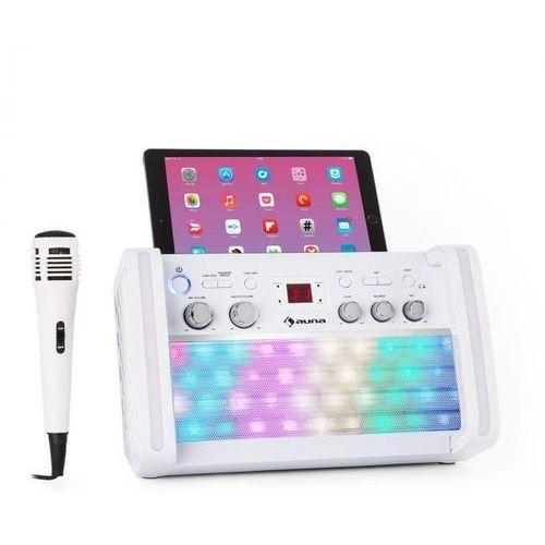 Auna discofever 2.0 zestaw karaoke bt wielobarwne diody led odtwarzacz cd/cd+g (4060656104312)