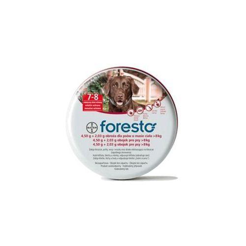 BAYER Foresto - Obroża przeciw pchłom i kleszczom dla dużych psów (dł. 70cm) - sprawdź w KrakVet