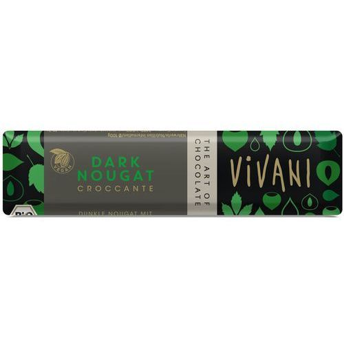 Vivani Baton croccante czekolada gorzka nugatowa bio 35 g- (4044889002553)