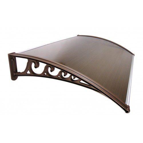 Daszek zadaszenie drzwi klasyczne 120 x 80 - brązowy marki Metal-gum
