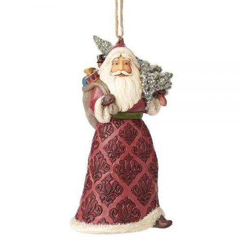 Jim shore Mikołaj victorian santa (hanging ornament) 4058757 figurka ozdoba świąteczna