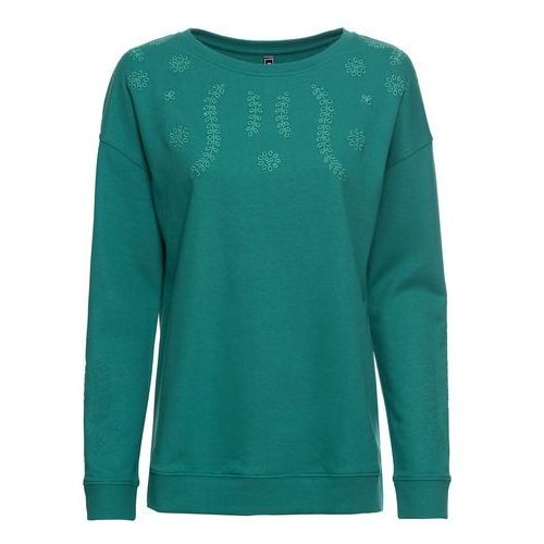 Bluza z kapturem bonprix jasnoszary melanż z nadrukiem, w 6 rozmiarach