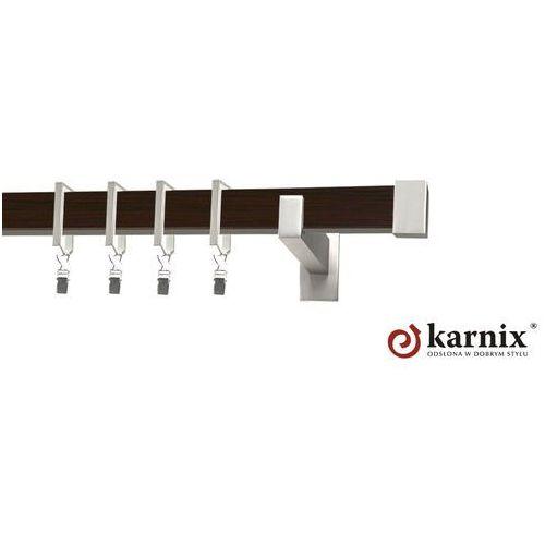Karnisz Apartamentowy Errano pojedynczy 31x13mm Loreto Chrom mat - wenge - sprawdź w ikarnisze.pl - Home&Design