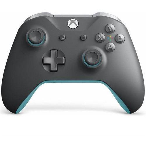 Kontroler bezprzewodowy do konsoli xbox (szaro-niebieski) marki Microsoft