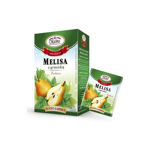 Malwa sunny garden herbata melisa z gruszką 20tb marki Malwa tea