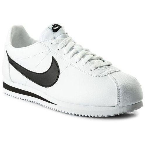 Buty NIKE - Classic Cortez Leather 749571 100 White/Black, kolor biały