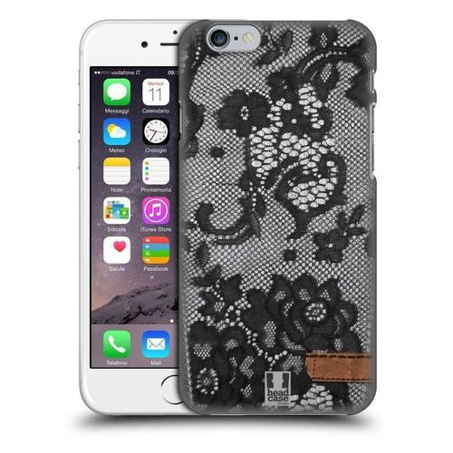 Etui plastikowe na telefon - Jeans and Laces BLACK LACE OVER BLACK DENIM