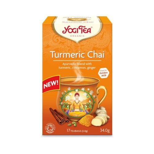 YOGI TEA 17x2g Złoty chai Herbata z kurkumą Bio