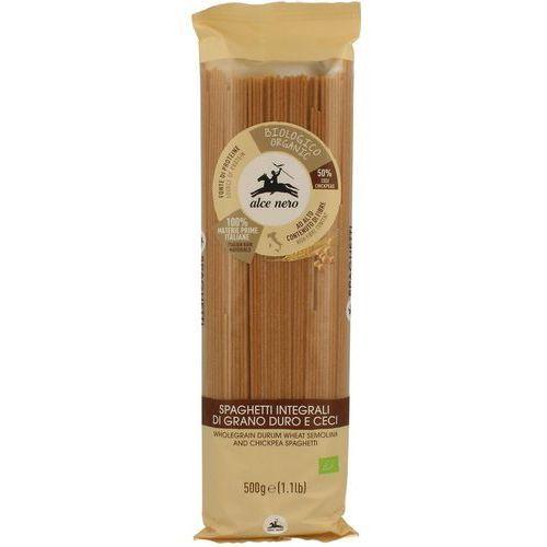 Alce nero (włoskie produkty) Makaron (semolinowy z ciecierzycą) fusili bio 500 g - alce nero