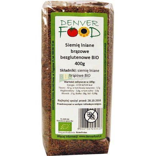 Denver food Siemię lniane bezglutenowe (len brązowy) bio 400g - (5904730450423)