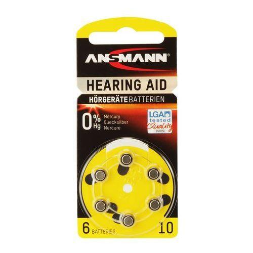 Ansmann bateria do aparatów słuchowych zinc-air 10 (pr70) (4013674013227)