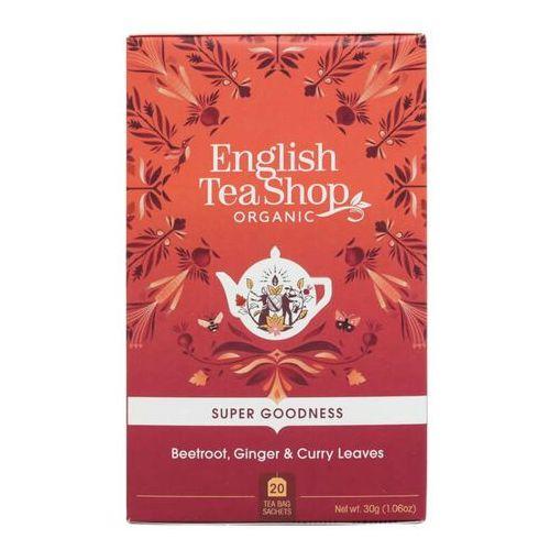 Herbatka ziołowa z burakiem, marchwią, imbirem, liśćmi curry i pietruszką 20x1,5 g bio 30 g p marki English tea sho