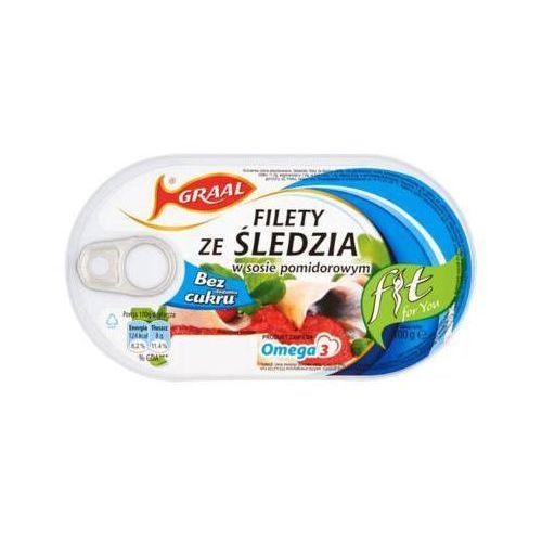 GRAAL 100g Filety ze śledzia w sosie pomidorowym Fit