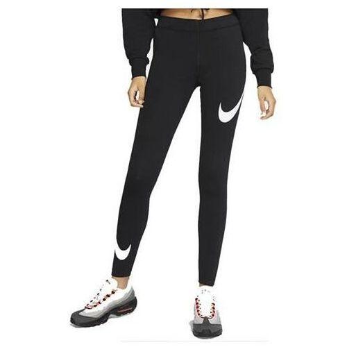 Legginsy damskie Nike Legasee Swoosh czarne CJ2655 013, kolor czarny
