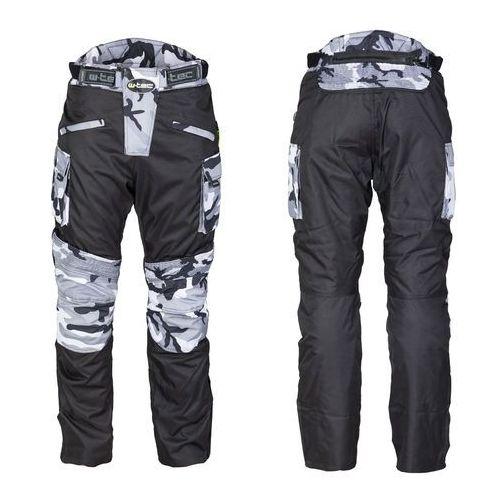 W-tec Męskie spodnie motocyklowe kaamuf, black camo, 4xl
