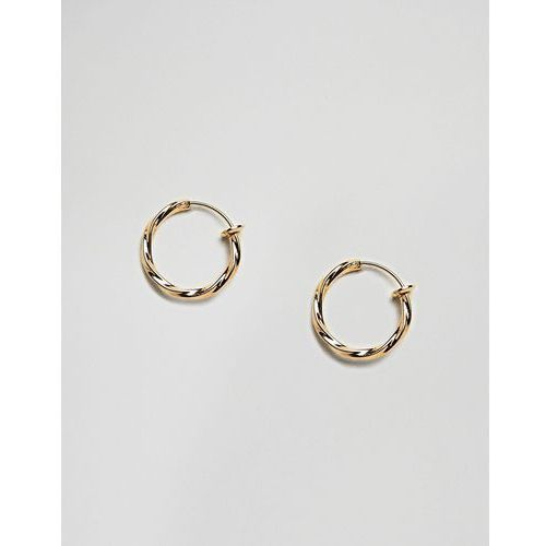 Asos design faux hoop earring or nose ring - gold