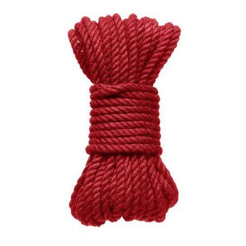 Kink by docjohnson (us) Lina kink hogtied bind & tie 6mm red hemp bondage rope 30 feet | 100% dyskrecji | bezpieczne zakupy (0782421068806)