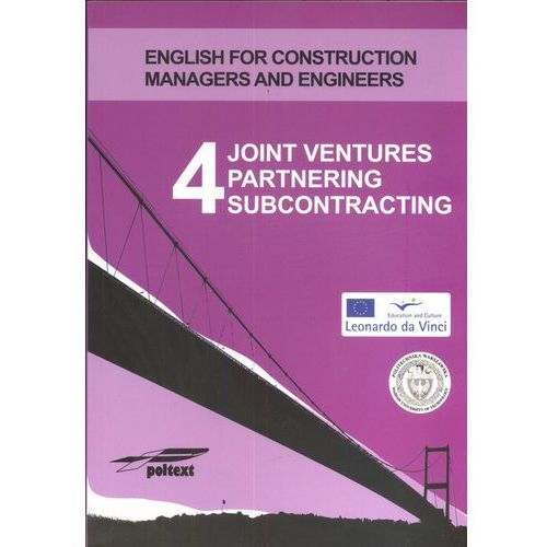 Joint Ventures Partnering Subcontracting 4 (+ CD) (9788375610161)