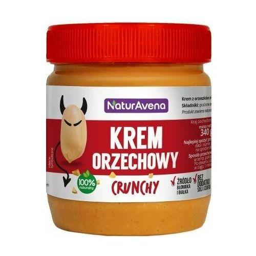 Krem orzechowy crunchy 100% bez soli/cukru 340g - Naturavena, 5902367400422