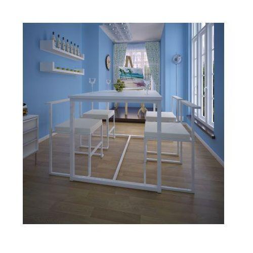 Stół jadalniany i 4 krzesła Zestaw biały, marki vidaXL do zakupu w VidaXL
