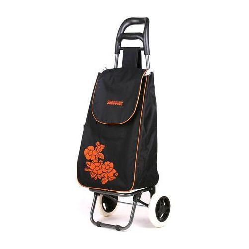Wózek na zakupy Flower czarny (wózek na zakupy)