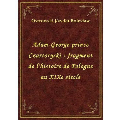 Adam-George prince Czartoryski: fragment de l'histoire de Pologne au XIXe siecle, Klasyka Literatury Nexto