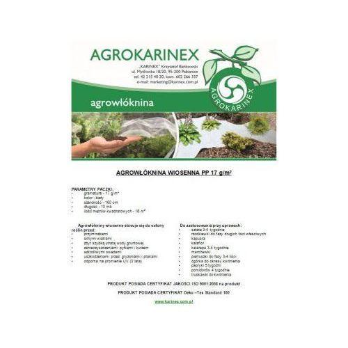 Agrowłóknina wiosenna PP 17 g/m2 biała 1,6 x 10 mb. Paczka o wadze 0,3 kg. - produkt z kategorii- folie i agrowłókniny