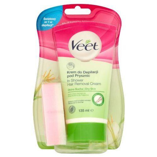 VEET 135ml Krem do depilacji pod prysznic skóra sucha + gąbka, Reckitt Benckiser