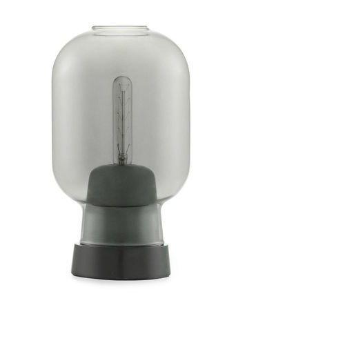 AMP - Lampa stojąca Szkło palone Czarny/Marmur Wys.26,5cm