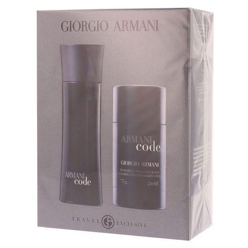 Giorgio Armani zestaw dla mężczyzn Code EDT 75 ml + dezodorant 75 ml (3360372119579)