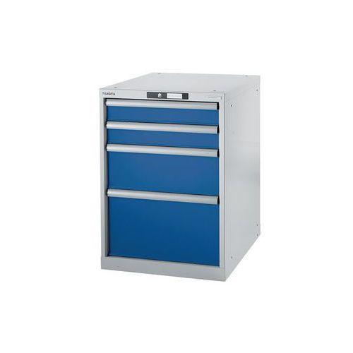 Stół warsztatowy w systemie modułowym, szafka dolna,wys. 800 mm, 4 szuflady