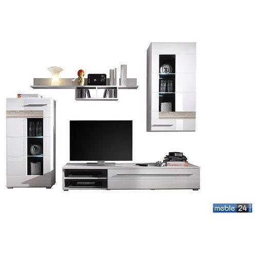 ART TEZZO meblościanka model 1- front wysoki połysk biały ze sklepu meble24.co